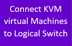 Connect KVM Virtual Machines to Logical Switch