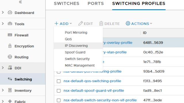 Create Switching Profile